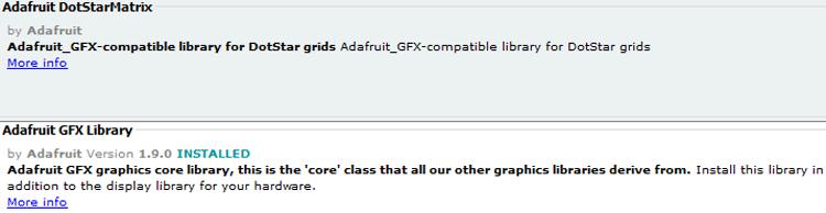 Adafruit GFX library by Adafruit