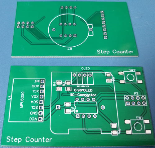 Attiny85 Step Counter PCB Board