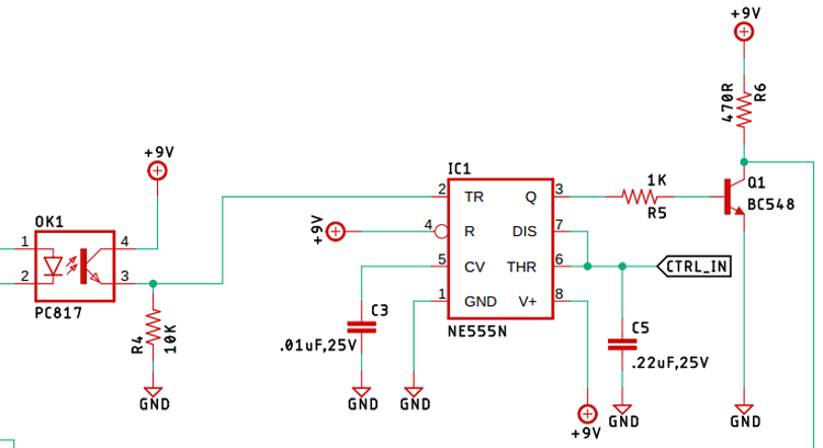 Control Circuit with NE555 Timer