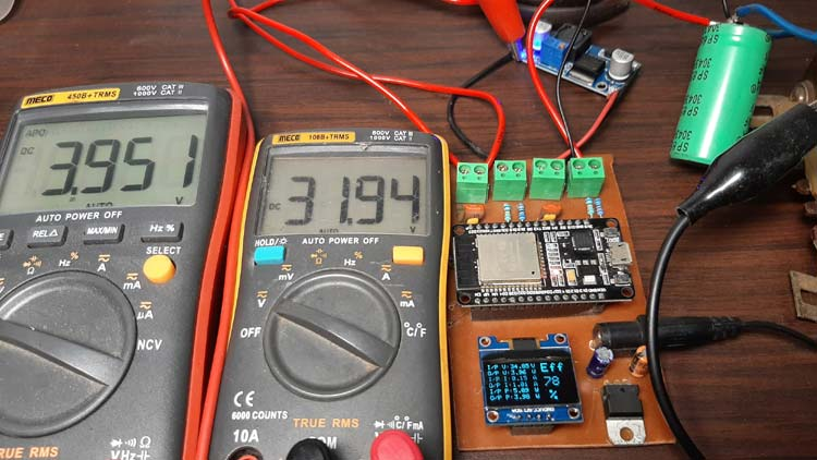 ESP32 Based Efficiency Meter Working