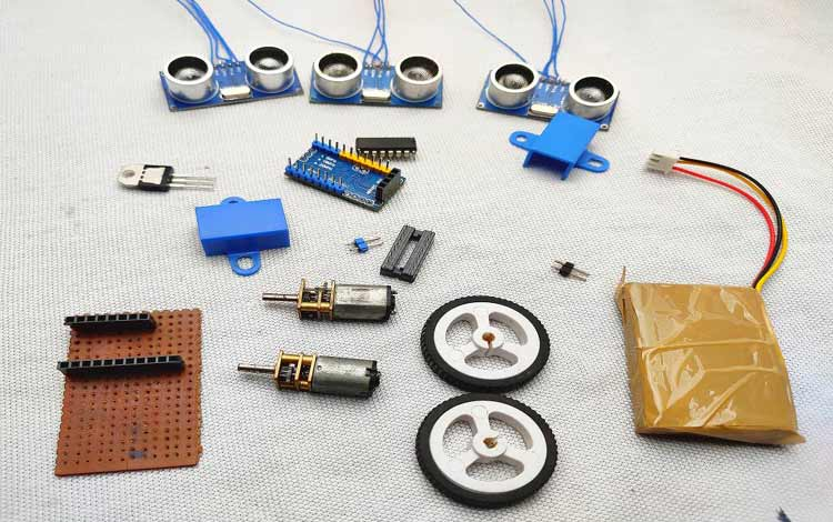 Components for Floor Cleaning Robot