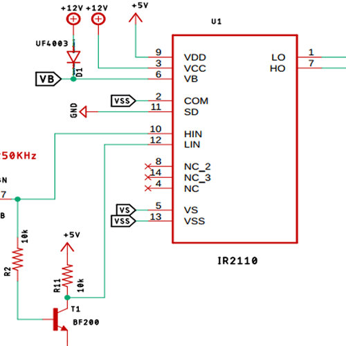 IR2110 MOSFET Gate Driver IC