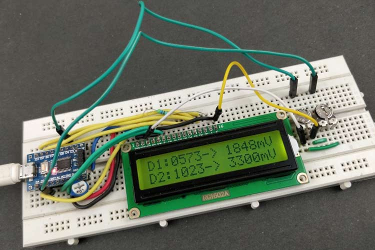 Interface 16x2 LCD with STM8s