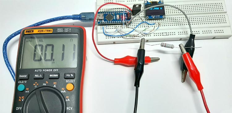 Low Resistance Meter with Arduino