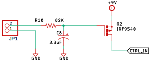 Lowpass-Filter and the P-Channel MOSFET