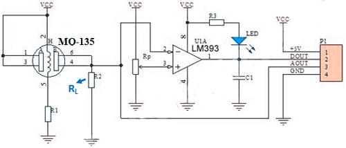 MQ135 Sensor Circuit Diagram
