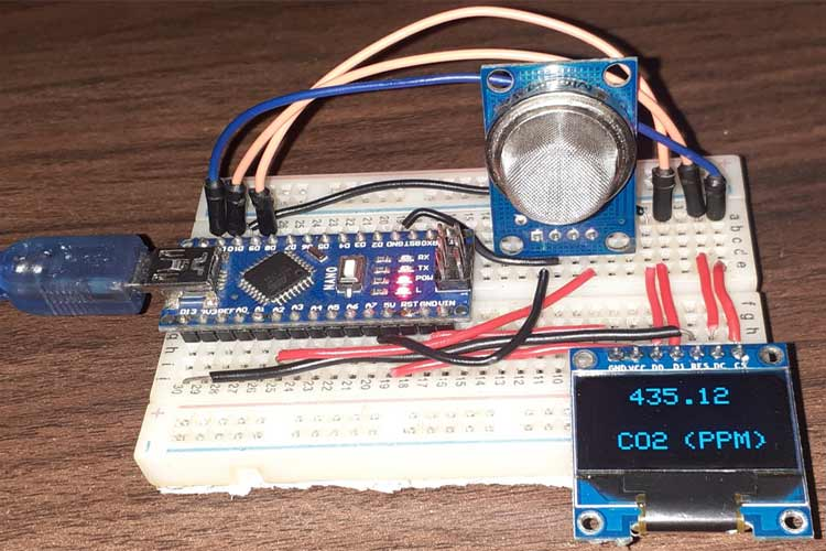 Measuring CO2 Concentration using Arduino