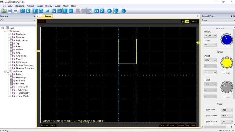Monostable Multivibrator Waveform