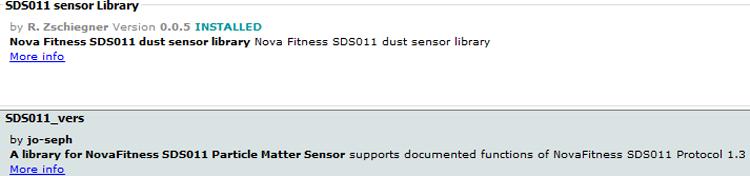SDS Sensor Library