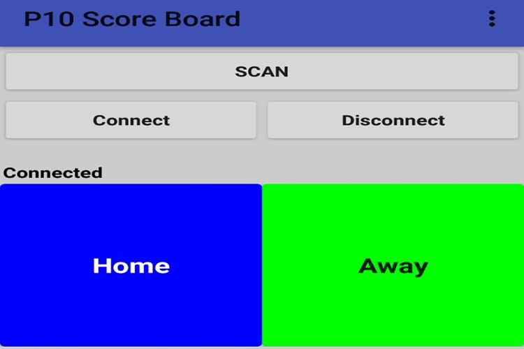 Smartphone Controlled Scoreboard App