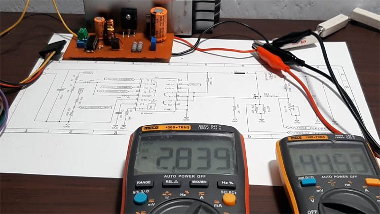 TL494 based Boost Converter Circuit Working