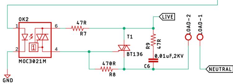 TRIAC Driver Circuit Schematic