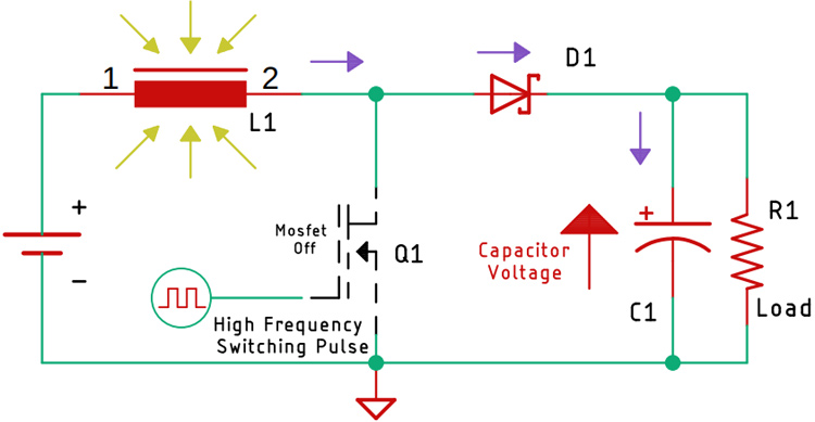 Working of Boost Converter Circuit