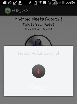 voice controlled LEDs AMR voice app demonstration