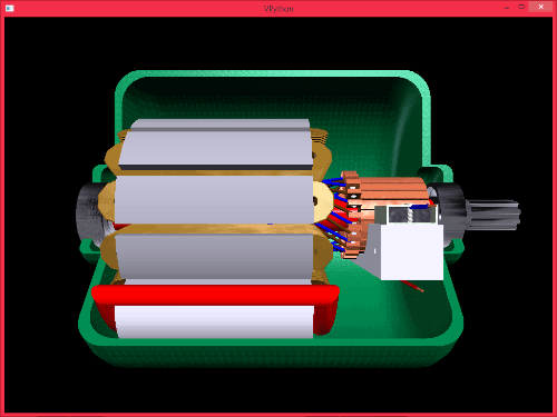 vpython example electric motor