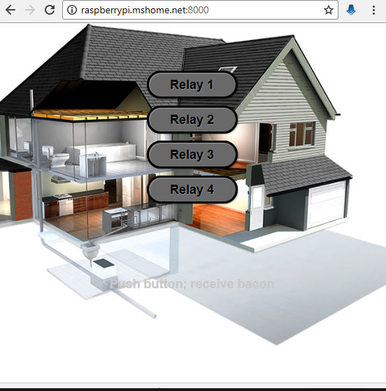 web page for IoT Home automation using raspberry pi