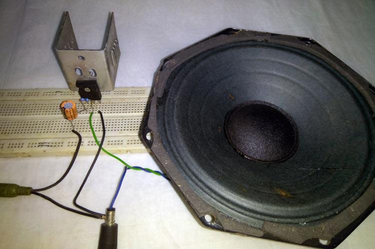 12V Audio Power Amplifier using TIP35C