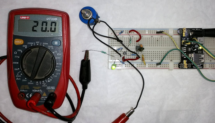 4-20mA Current Loop Tester using Op-Amp as Voltage to Current Converter