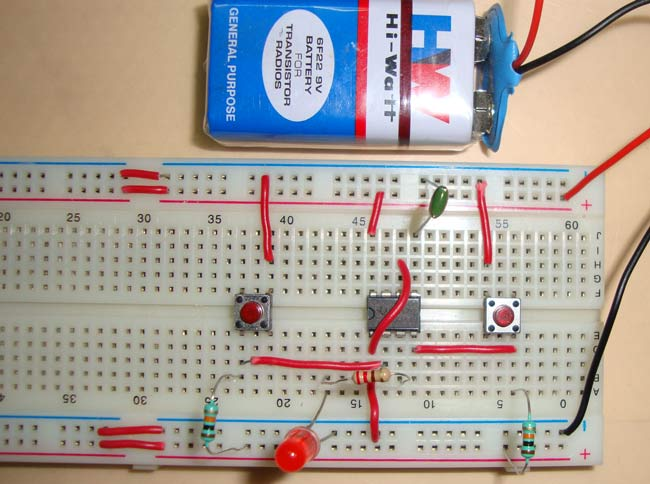 Digital Clock Circuit Diagram | 555 Timer Bistable Multivibrator Circuit Diagram