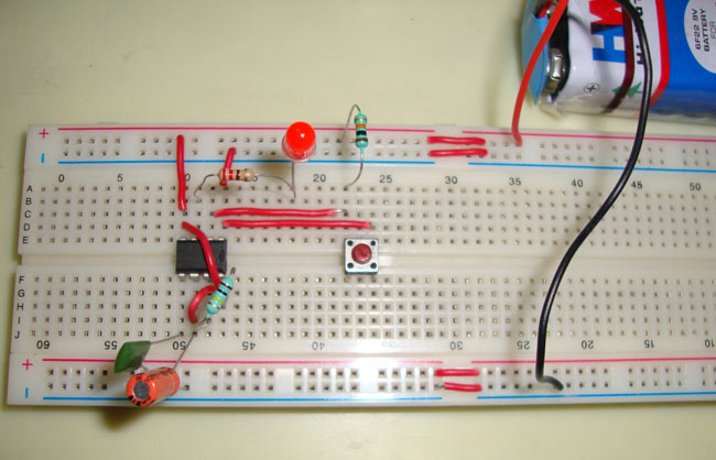 555 Timer Monostable Circuit Diagram
