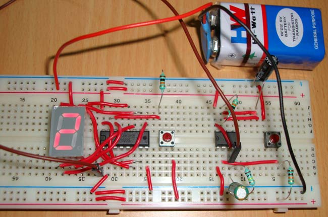 7 Segment Display Counter Circuit Using Ic 555 Timer Ic