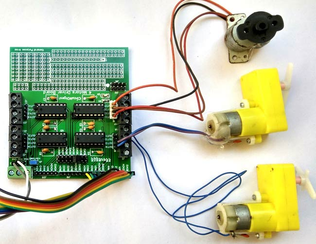 8-channel Motor Driver Circuit on PCB
