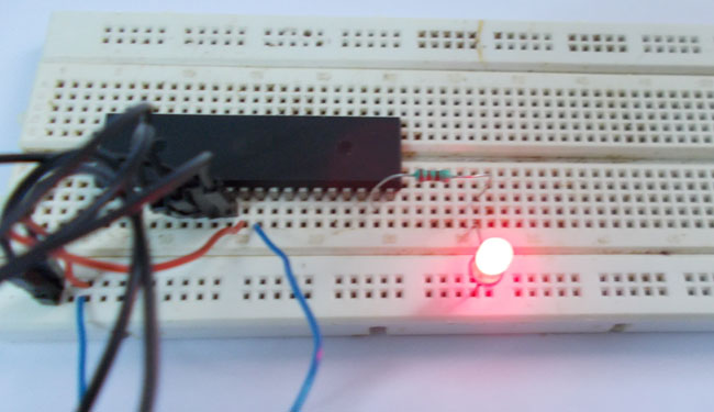 Led Blinking With Atmega32a Avr Microcontroller
