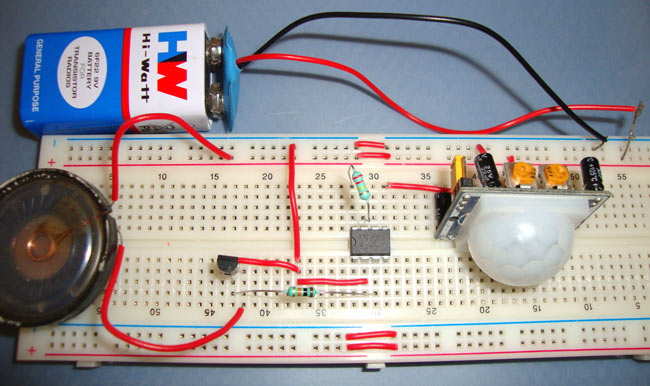 Burglar Alarm Project With Circuit Diagram