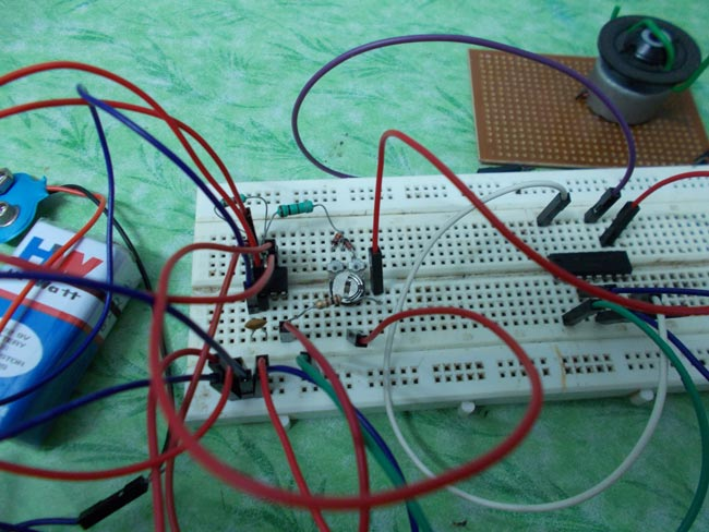 Simple DC Motor Speed Control Circuit using 555 Timer IC