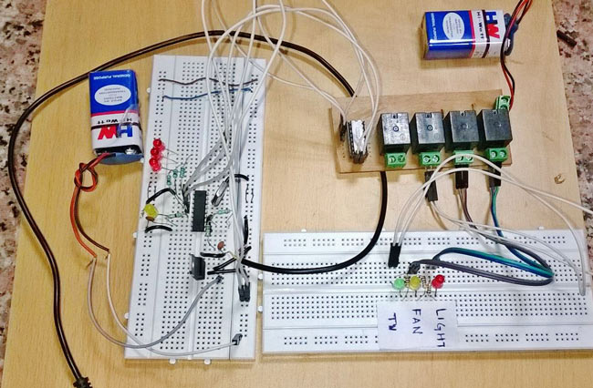 Project report on home automation system using dtmf