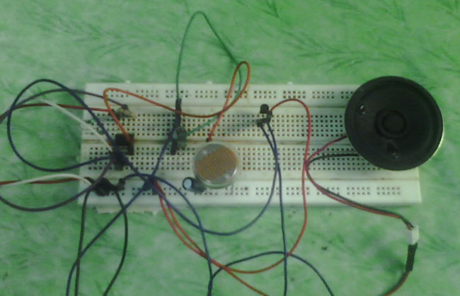 Dark Detector Alarm Circuit Diagram using LDR and 555 Timer IC