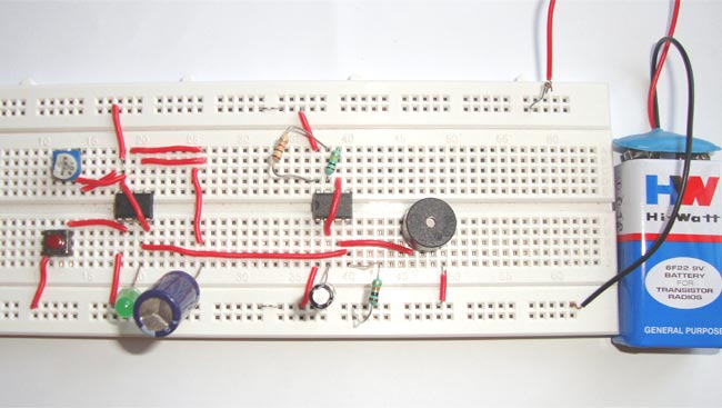 doorbell circuit diagram using ic 555door bell circuit using 555 timer ic