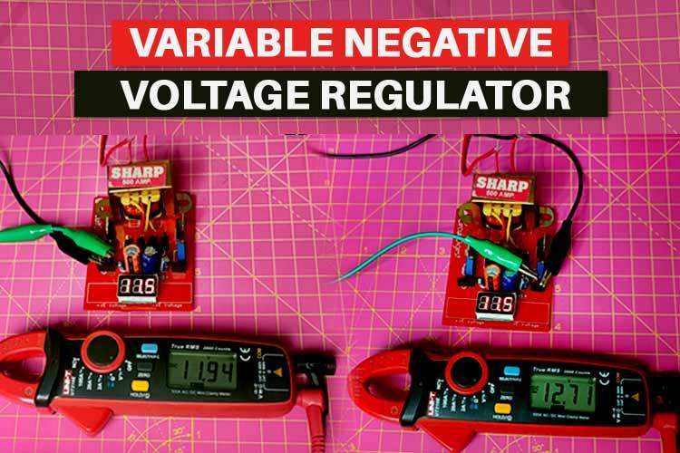 Simple Variable Negative Voltage Regulator Circuit