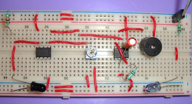 Infrared Ir Based Security Alarm Circuit Using 555 Timer Ic Lm358