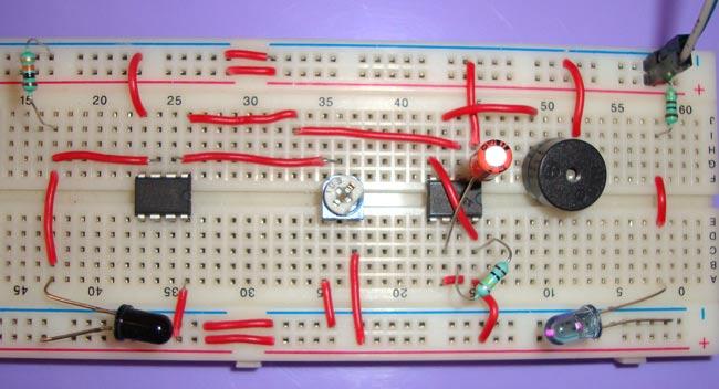 IR Based Security Alarm Circuit