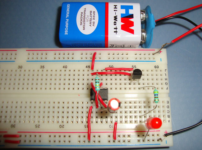 fading led circuit using 555 timer ic