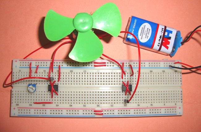 H Bridge Motor Driver Circuit using IC 555