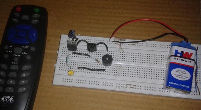 IR Remote Control Tester Circuit Diagram