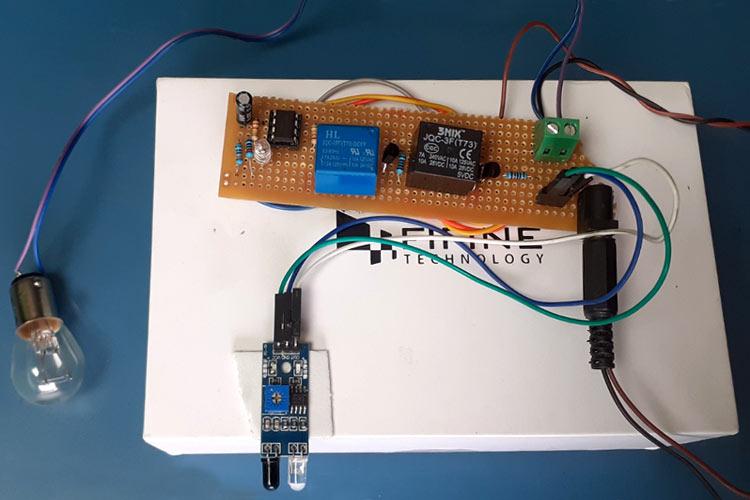 IR based Motion Sensor Circuit using 555 Timer IC