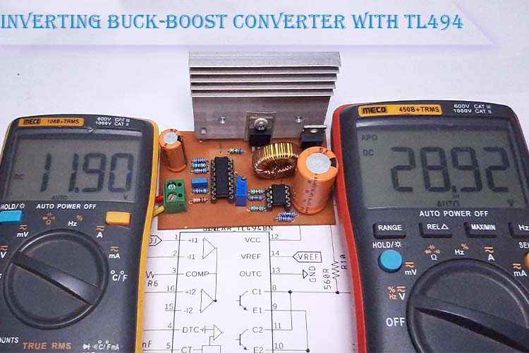 Inverting Buck-Boost Converter with TL494