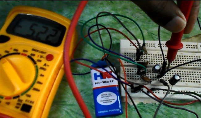 Negative Voltage Generator using IC 555
