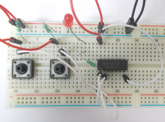 OR Gate Circuit using IC 74LS32