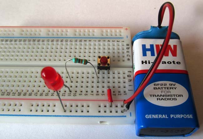 Push Button LED Circuit
