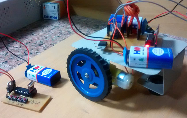 Rf Controlled Robot Without Microcontroller on electronic motor