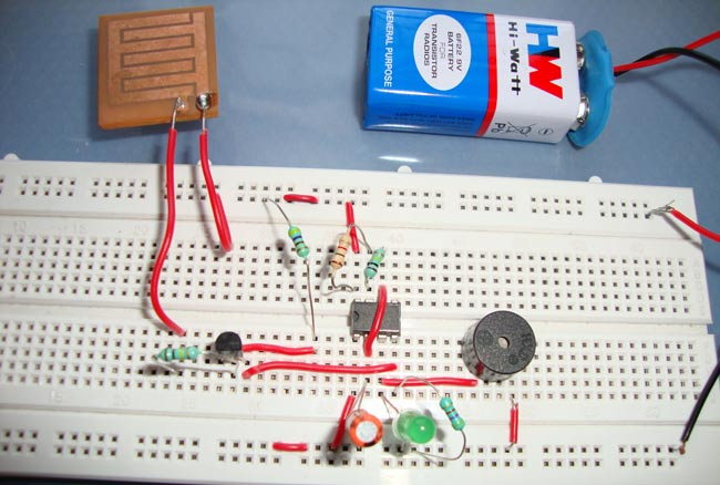 Rain Alarm Project on burglar alarm circuit diagram