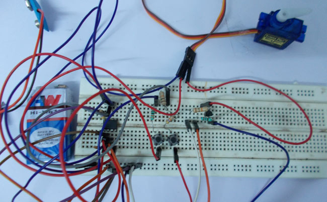 Servo Tester Circuit using IC 555