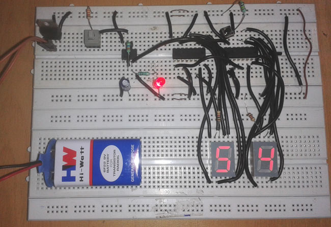 digital stopwatch circuit diagram using 555 timer ic cd 4033 rh circuitdigest com digital stopwatch circuit diagram led stopwatch circuit diagram