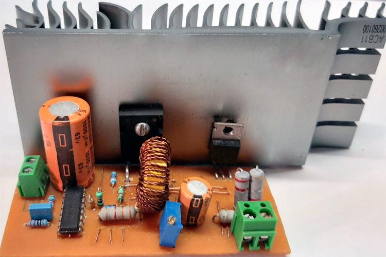 TL494-Buck-Converter-Circuit Mạch nguồn Buck hiệu suất cao sử dụng TL494