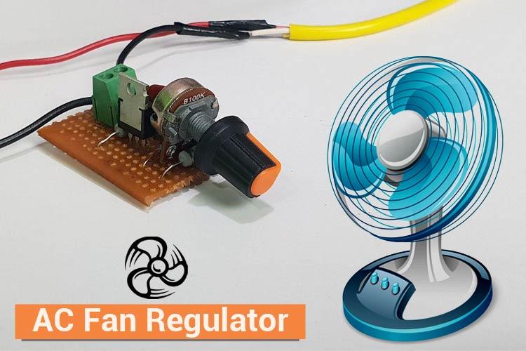 AC Fan Regulator using TRIAC and DIAC