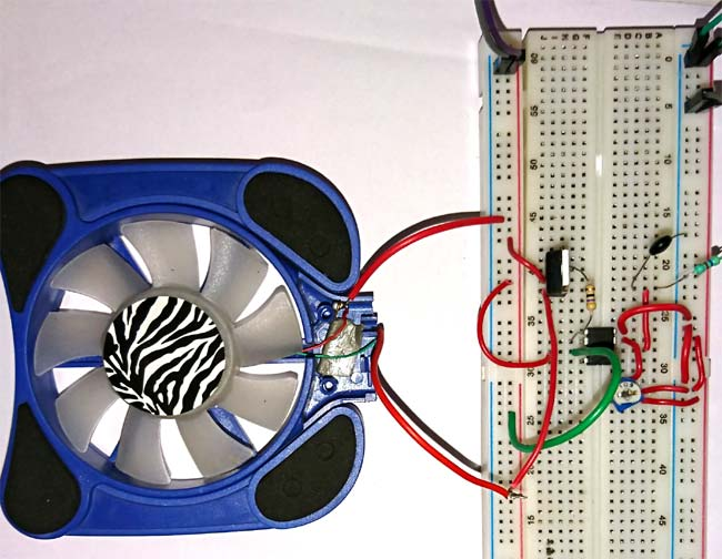 Temperature Controlled DC Fan using Thermistor: Project with Circuit